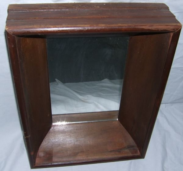 4013: 1800's Shadow Box Mirror 19 1/2H x 15 1/2W