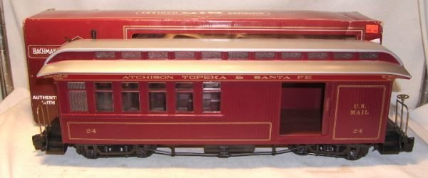 4016: Bachmann Big Hauler G-Scale with Box, Atchison To