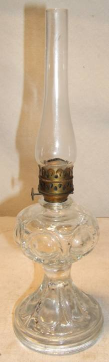 4020: Antique Miniature Oil Lamp, 11 /4H x 3 1/2 Dia.