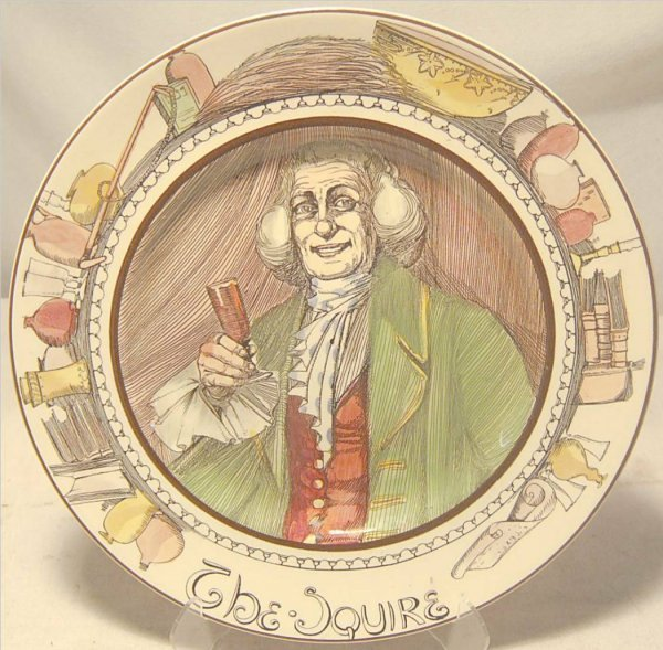 "4021: Royal Doulton Plate The Squire D6284, 10 1/2"" Di"