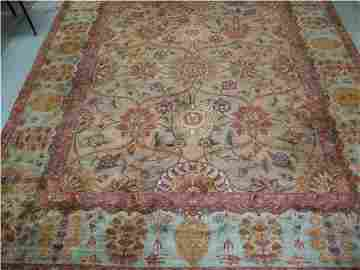 4130: India Hand Knotted 100% Wool Rug, 8 x 10, Excelle