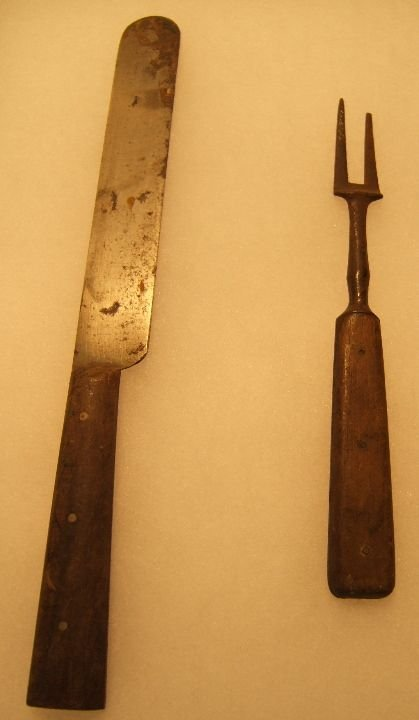 18: Civil War Period Fork and Knife Set