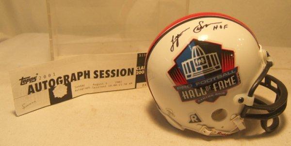 1007: Steelers Lynn Swann HOF Signed Mini Helmet with C