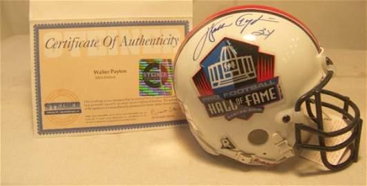 1009: Walter Payton HOF Signed Mini Helmet with COA