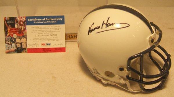 1015: Franco Harris Autographed Penn State Mini Helmet