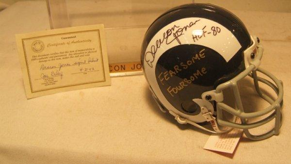 1019: Deacon Jones Fearsome Four Autographed Mini Helme