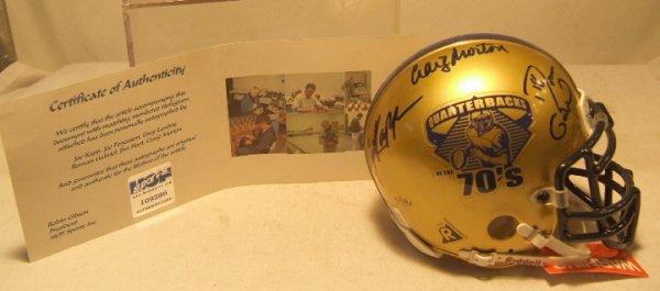 1021: Quarterbacks of the 1970's Autographed Mini Helme