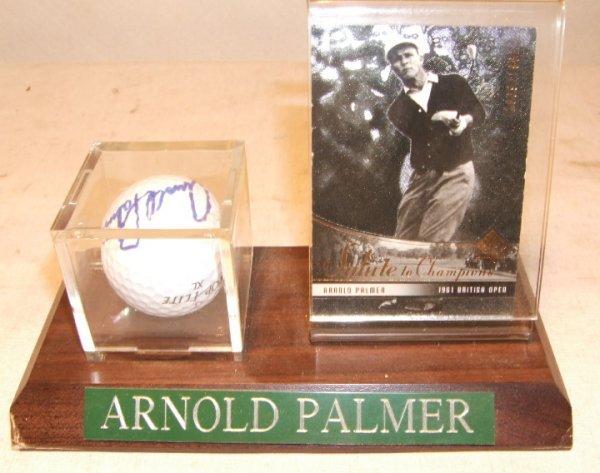 1023: Arnold Palmer Autographed Golf Ball & Card
