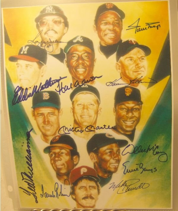 1199: Eleven Historical Baseball Authographs 8 x 10 wit