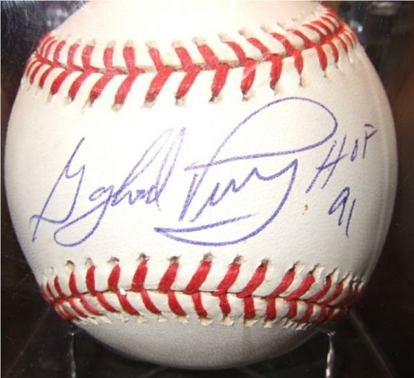 1004: Gaylord Perry Autographed Baseball HOF with COA