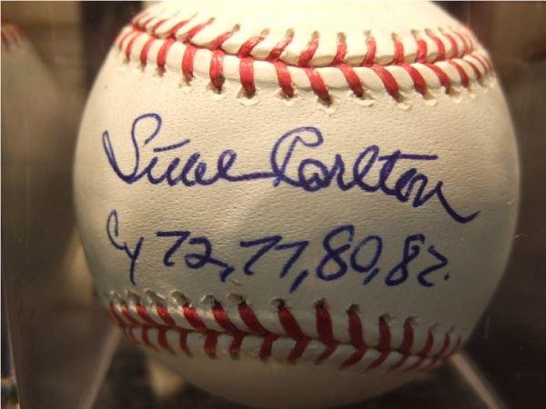1010: Steve Carlton Autographed Baseball with COA