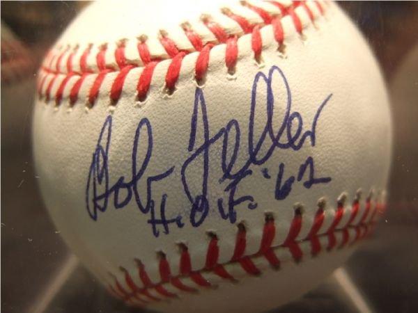 1016: Bob Feller HOF 62 Autographed Baseball with COA