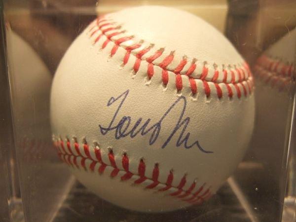 1020: Tom John Autographed Baseball with COA