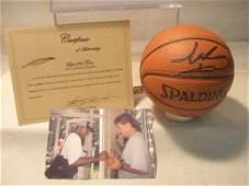 1062 Isiah Thomas Autographed Mini Basketball with COA