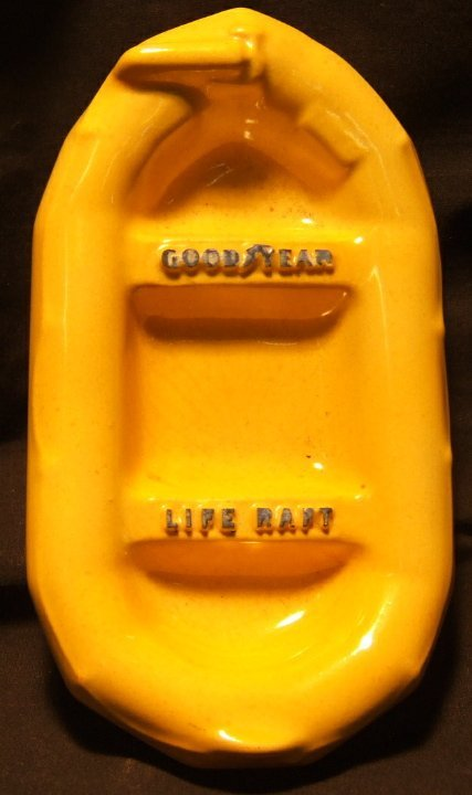 2004: Vintage Goodyear Life Raft Ashtray by Coventry