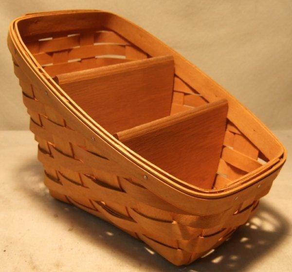 2010: Longaberger Vegetable Basket with Wooden Dividers