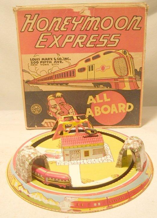 4010: Marx Hooneymoon Express with Box, 9 Inch Dia.