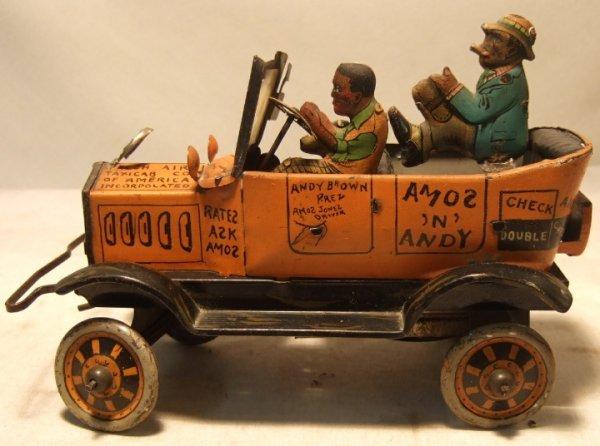 "4020: Marx Amos and Andy Fresh Air Taxi, 8"" Long"