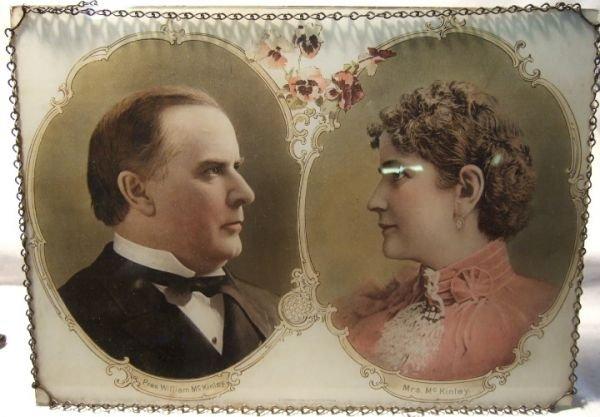 4001: Rare 1896 President McKinley & Mrs. McKinley Flu