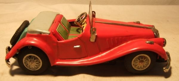 """4005: Battery Operated MG Car, 9"""" Long, Excellent Cond"""