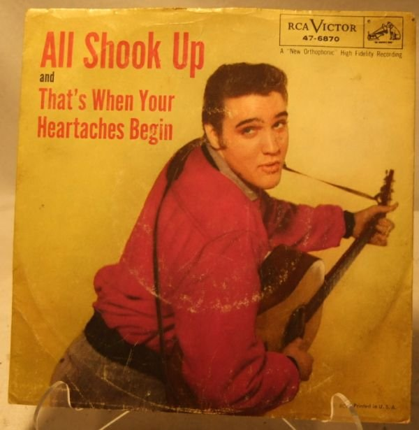 4021: Vintage Elvis Presley, All Shook Up, 45 RPM with