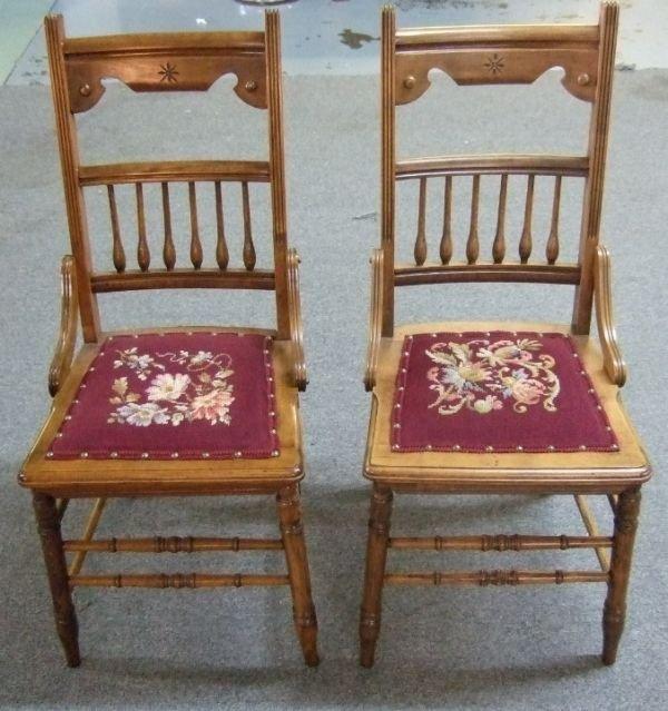 4007: Two 1800's Needlepoint Hiphugger Wheelcut Armles