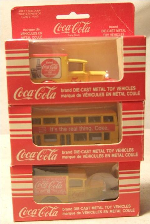 4002: Matchbox Coca Cola Trucks & Double Decker Bus, 3