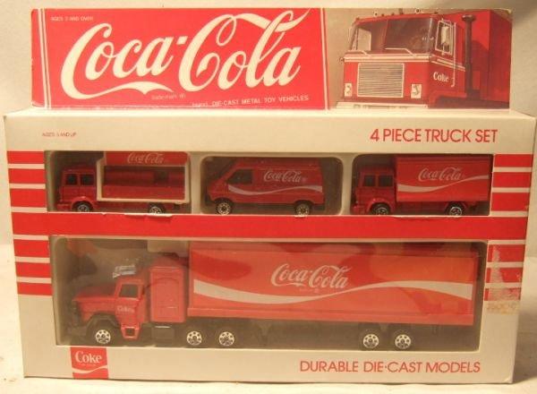 4012: Hartoy/Corgi Four Piece Coca Cola Truck Set, MIB