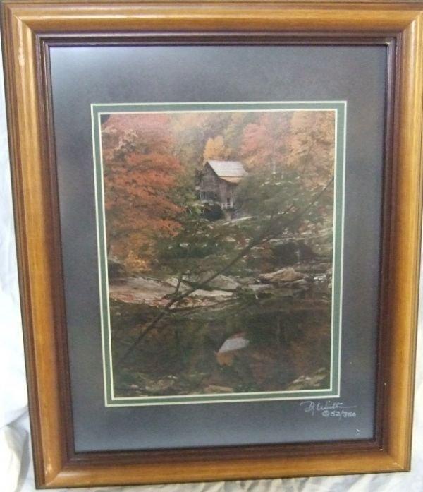 4019: Limited Edition Artist Signed Photo Framed, 13.5