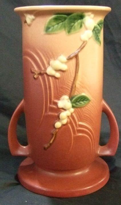 4018: Roseville IVI-9, 9 Inch High Snowberry Vase, Exce