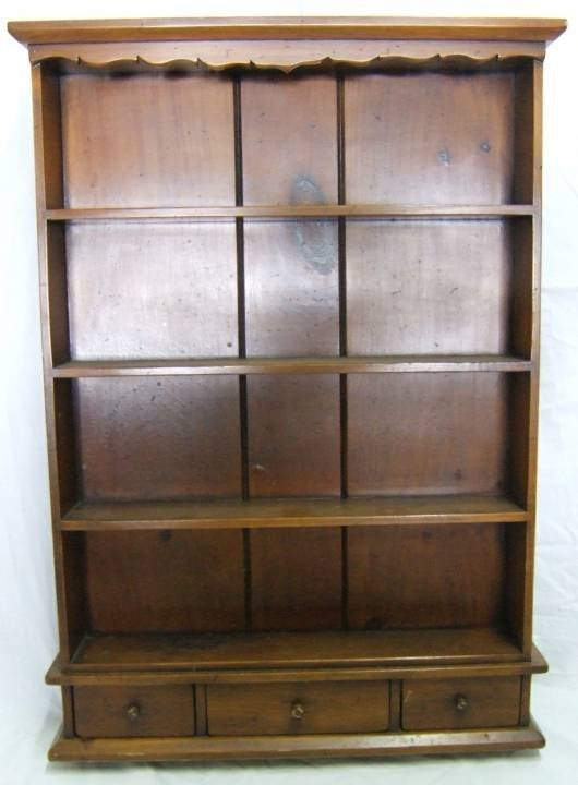 4003: Early American Style Wall Cabinet with Three Draw