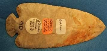 5025: 5 1/4 x 2 1/8 Dovetail, dart/Knife Form, Flint Ri