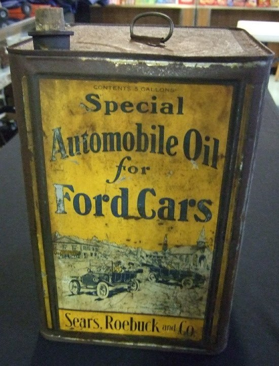 14: Ca. 1918 Five Gallon Oil Can for Ford Engines