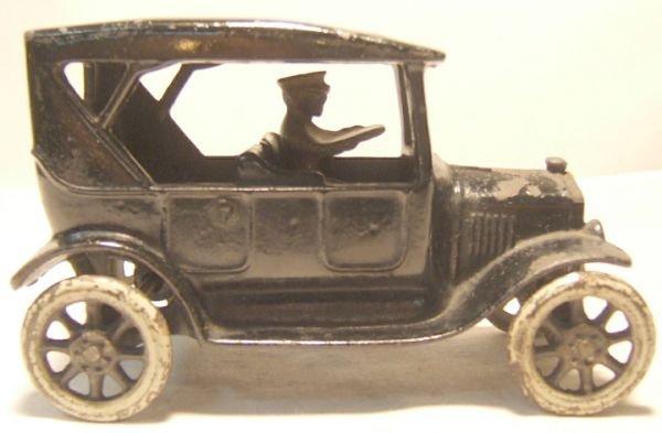 "18: Arcade Cast Iron Model T Touring Car, 6 1/4"" Long"