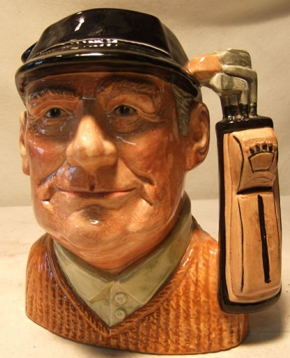 9: Royal Doulton Golfer D6623 Toby Mug, 7 1/2H, Excelle
