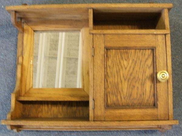 2: Oak Medicine Cabinet with Mirror, 23 x 19 1/2