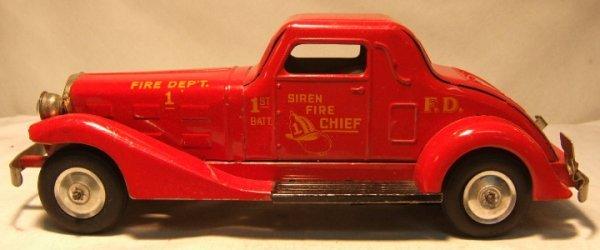 "1016: Marx Siren Fire Chief Auto. 15"" Long, Key wind mo"