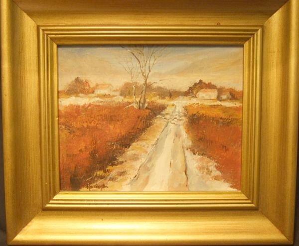 1003: 9 1/2 x 7 1/4 Landscape Oil Painting by Harrison,