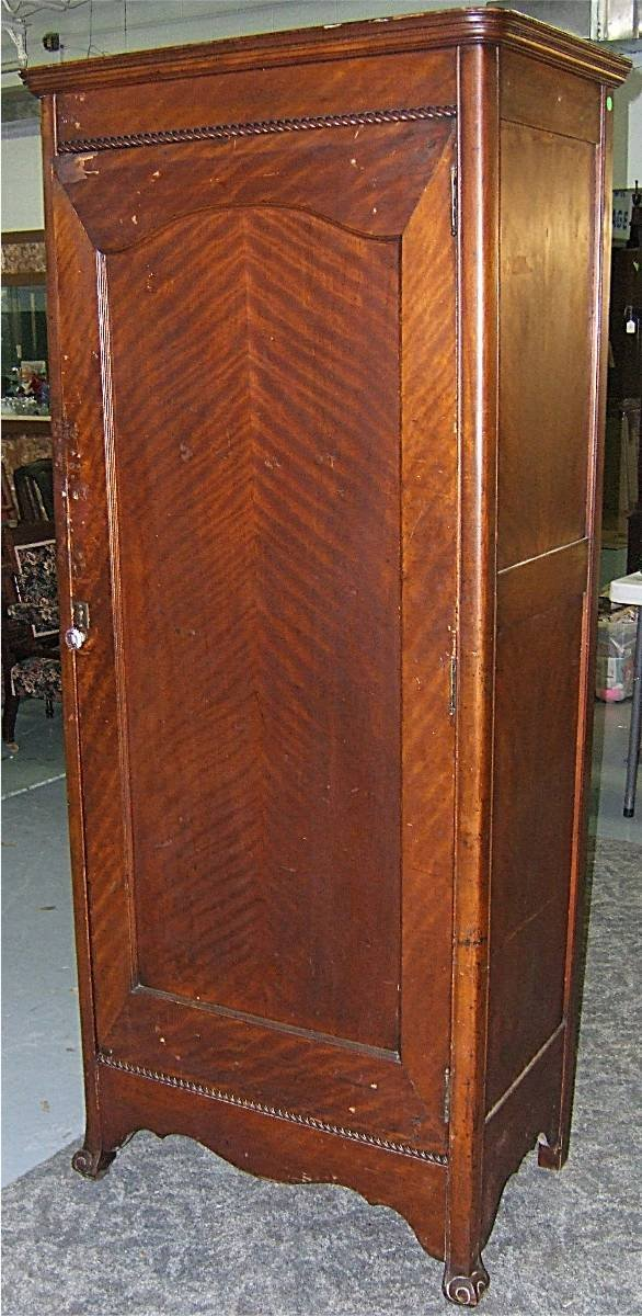 5: Victorian Single Door Wardrobe, 30 x 18 x 74H