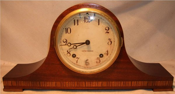 27: Seth Thomas Mantle Clock, Key Wound, Works