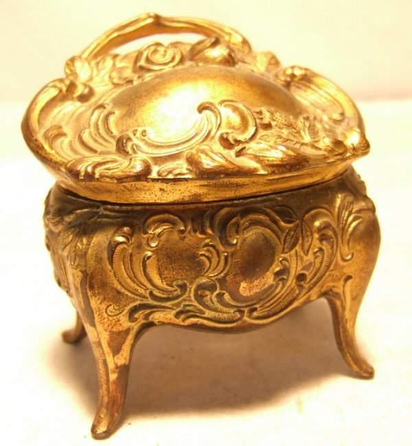 3: Victorian Jewel Box, 3W x 3 1/2H, Excellent Conditio