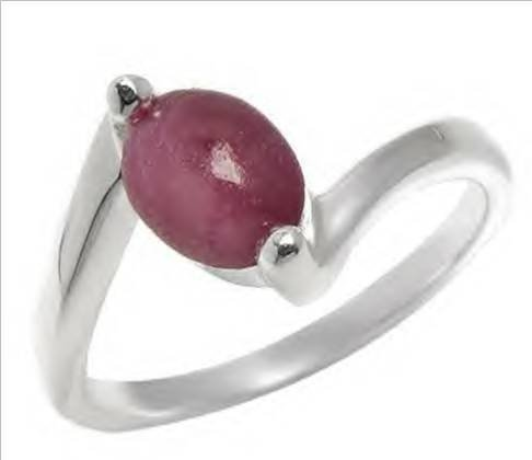 19: 1.90ctw Genuine Ruby Solid 925 Sterling silver - Si