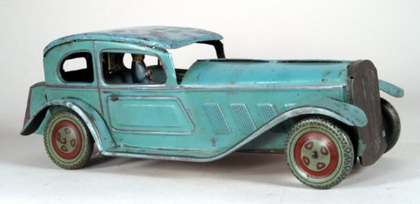 """4023: Mettoy Limo Blue Great Britain, 8 1/2"""" Long, Good"""