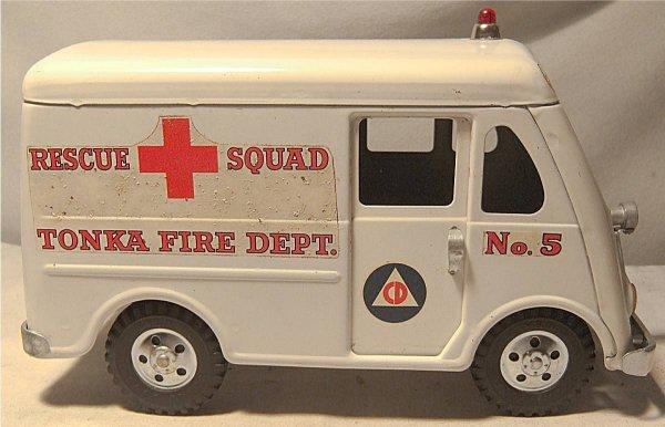 4001: Tonka Rescue Squad Fire Dept. Truck/Van, 1956-195