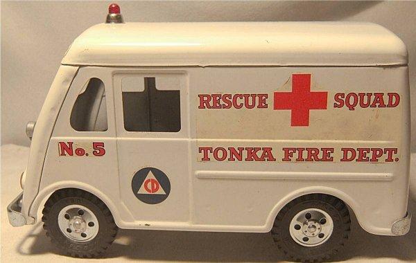 4001: Tonka Rescue Squad Fire Dept. Truck/Van, 1956-195 - 3
