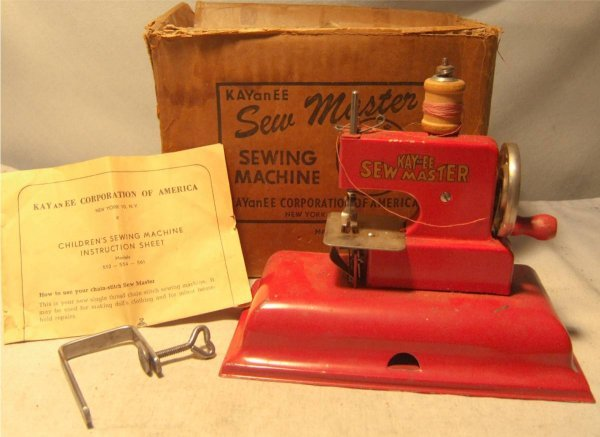 4015: Kay an EE Child's Sewing Machine, with Box and In