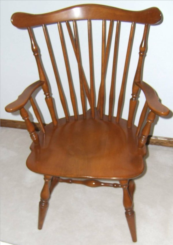 2076: Heywood Wakefield Windsor Arm Chair, Excellent Co - 2