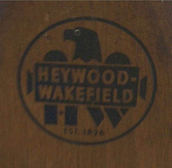 2076: Heywood Wakefield Windsor Arm Chair, Excellent Co - 3