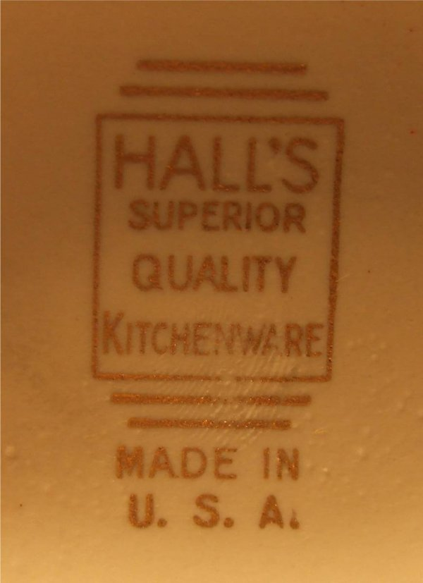2094: Rare Red Hall China Donut Teapot,Vintage, 7 Dia x - 2