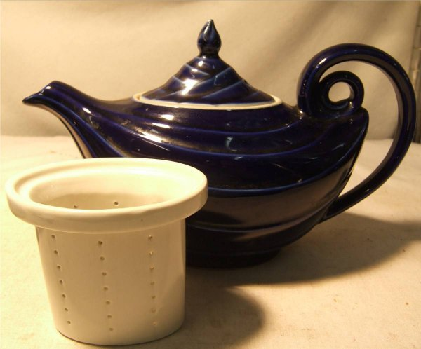 2109: Colbalt Blue Hall Aladdin teapot with Infuser, 10 - 3